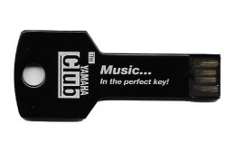Black 'key' shaped USB stick - 4GB