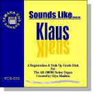 'Sounds Like Klaus' - Registrations for AR Organs