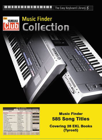 Easy Keyboard Library Music Finder Collection: Tyros5